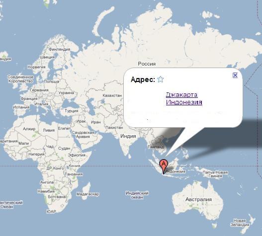 Индонезия на карте. Источник infokart.ru