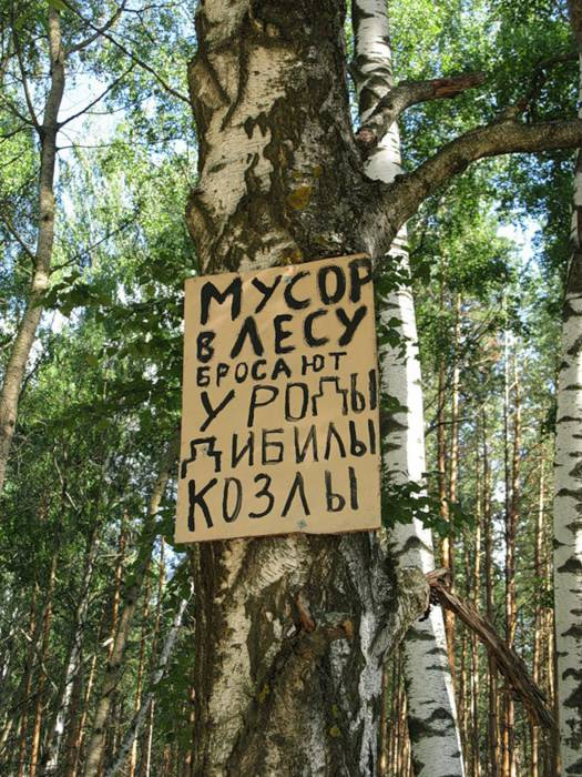 """Надеемся, что эта табличка не про читателей """"витебского курьера"""". Фото: vetka.by"""