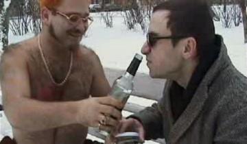 """Сцена из клипа """"Пьяный Винни-Пух"""""""