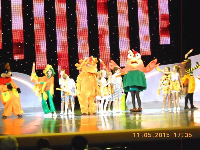 "детский театр "" Арт-проект"" на концерте 5.11.2015 в Витебске"