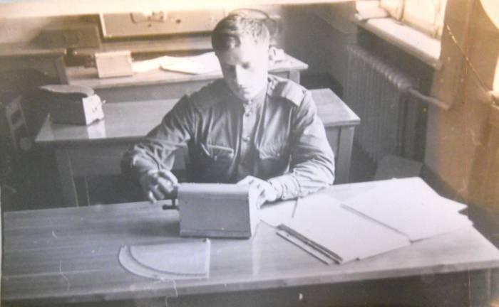Моя тренировка вычислителя в учебном классе в 1967 году