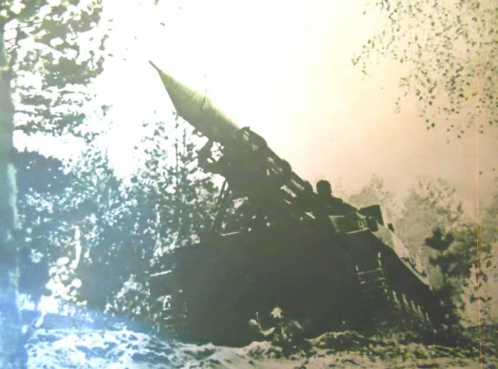 Тактический ракетный комплекс на базе плавающего танка1967 год