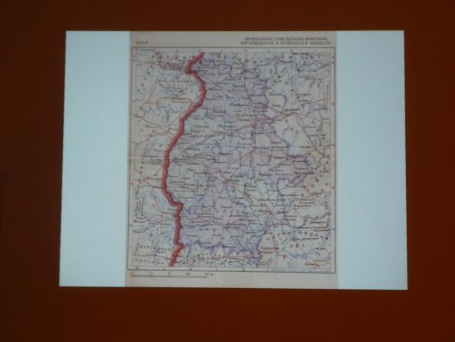 А на этой карте 38 года четко видна граница между Западной Беларусью и БССР