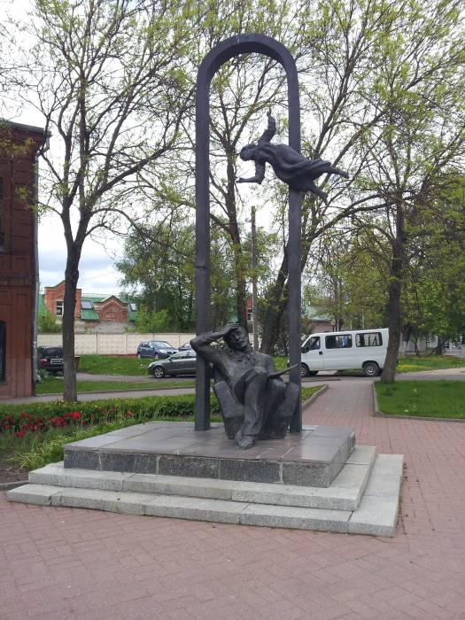Памятник Марка Шагала.. Фото: vitebsk.mitso.by