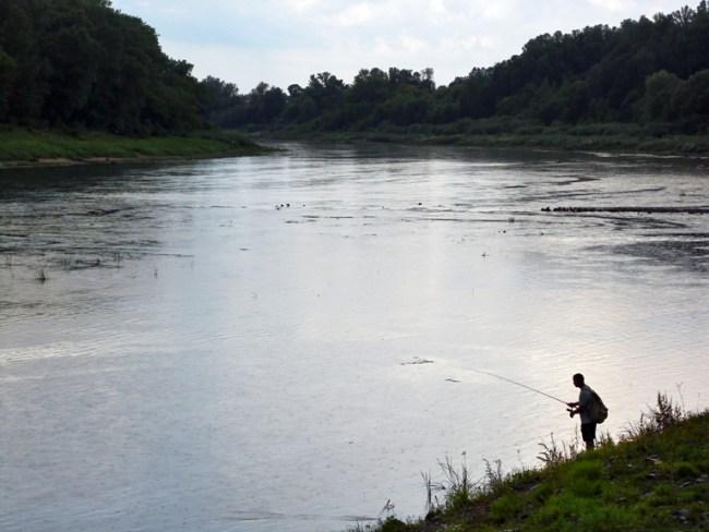 Рыбак на Двине
