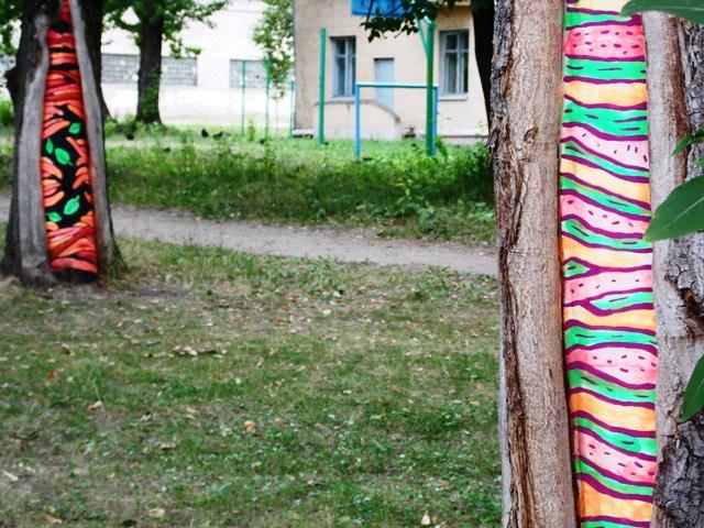 В сквере на улице Чайковского