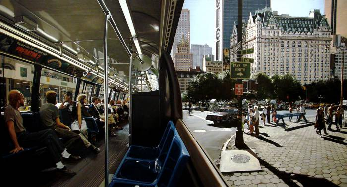 Richard Estes •The Plaza, 1991