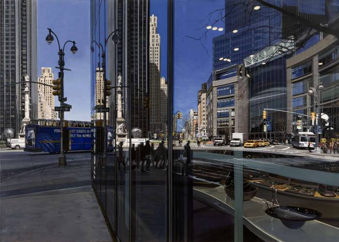 Richard Estes • Columbus Circle Looking North, 2009