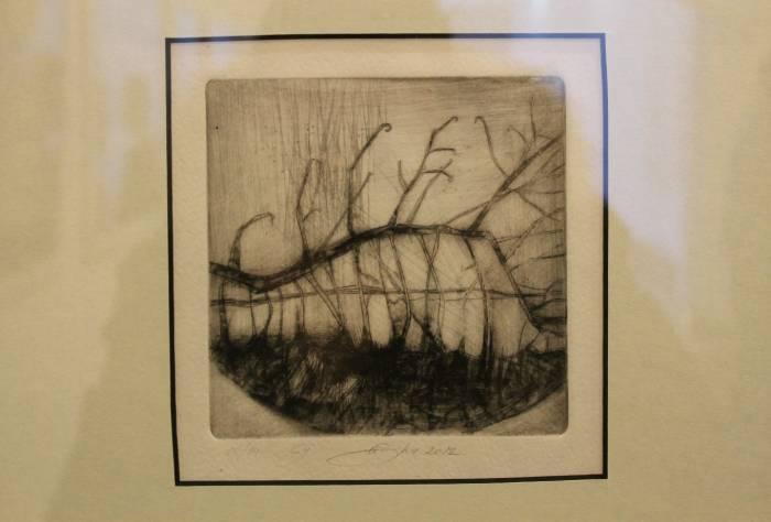 Работы Анастасии Шупрановой выполнены в необычной технике «сухой иглы»