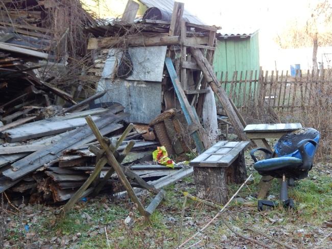 От прежних хозяев осталась мебель да дрова