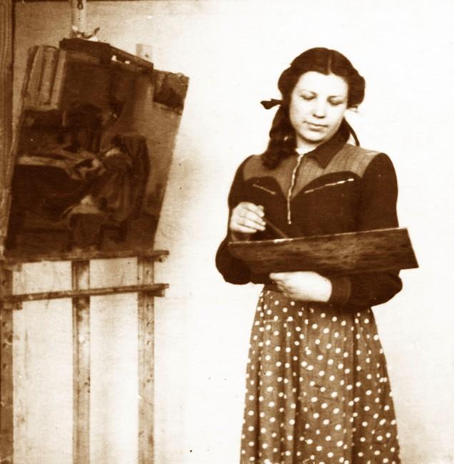 Елена Жукова. 1962 г. Фото из архива художественно-графического факультета ВГУ
