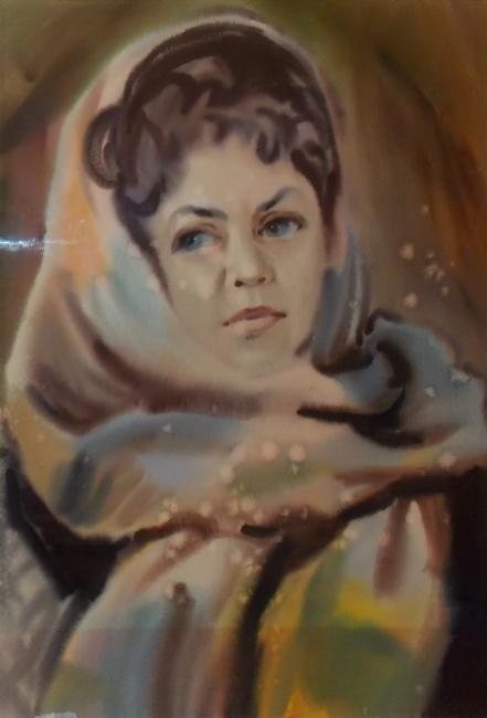 Ф. Гумен. Портрет Елены Жуковой. 1970-е гг.