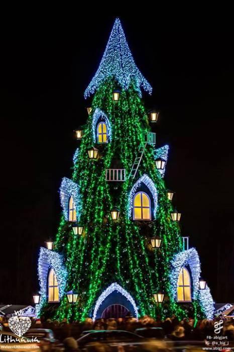 Главная елка Вильнюса. не правда ли, впечатляет? Фото из социальной сети Facebook