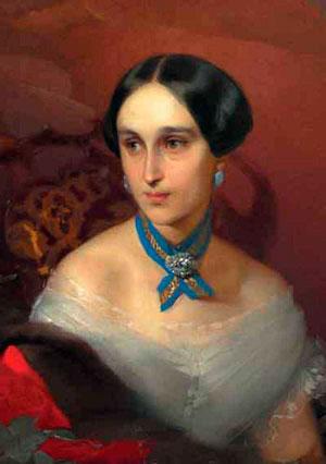И.К.Макаров Портрет Н.Н.Пушкиной-Ланской 1849 год