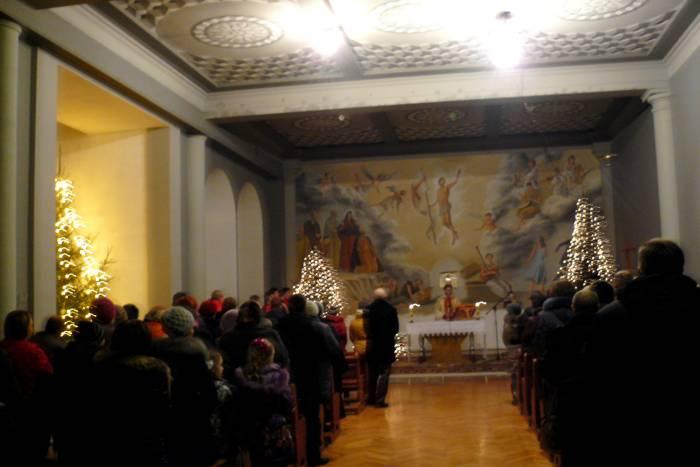 Рождественская имша в костеле Святого Антония Падуанского
