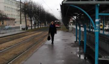"""Трамвайная остановка """"Смоленская площадь"""""""