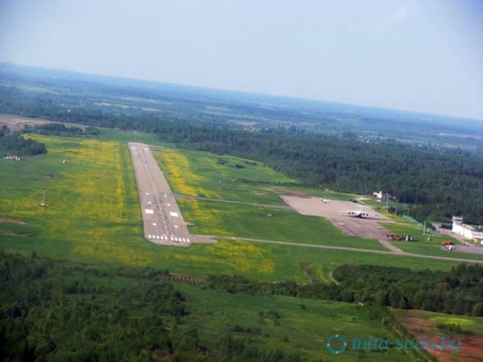 Аэропорт Витебск-Восточный сверху. Источник:tuda-suda.by