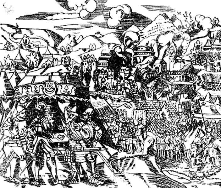 Взятие Полоцка войсками Батория 30.08.1579 года. Источник:historydoc.ru