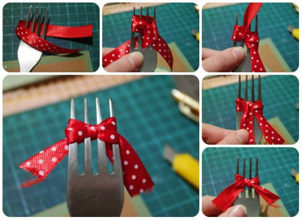 Как сделать бантик для открытки своими руками