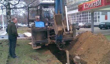 Земляные работы в городе.