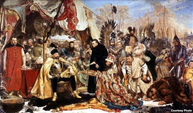 Ян Матейко 1872 год. Стефан Баторий под Псковом.