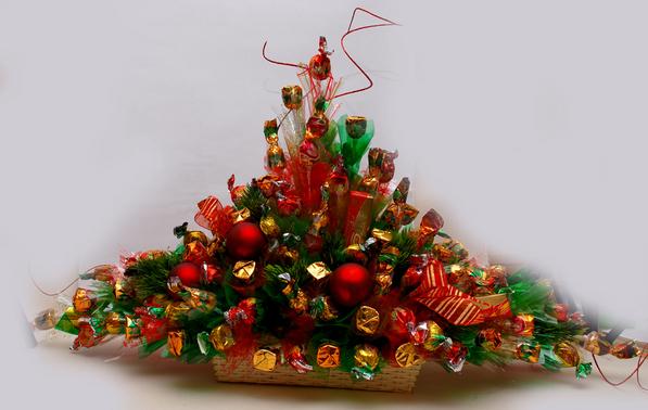Букет из конфет на Новый год. Фото liveinternet.ru