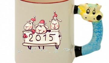 Кружка с Козой в год Обезьяны? А почему бы и нет? Фото  logoprinter.ru