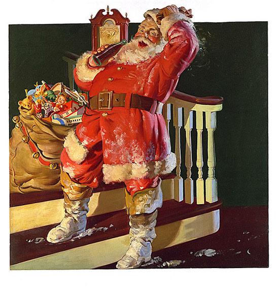 "Санта-Клаус художника Хэддона Сандблома из рекламной компании ""Кока-Кола"". Источник materinstvo.ru"
