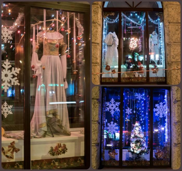 """""""Сивельга"""" совершенно очаровала нас роскошными нарядами в окнах. Такое чувство, что здесь примерили на себя роль ателье для персонажей из зимних сказок"""