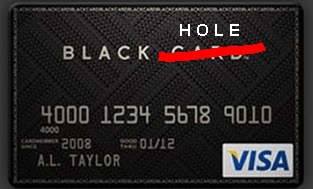visa black card hole обложка