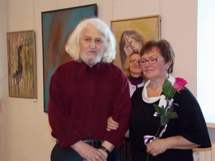 Валерий Чукин с супругой на открытии персональной выставки в Витебском художественном музее. Сентябрь, 2014 г.