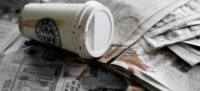 Хорошо, если кофе пролился на газету. А если на ногу? Источник: ukranews.com