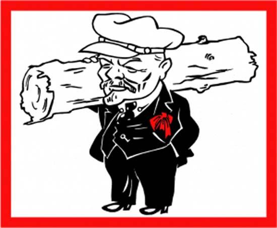 Вот такой он, дедушка Ленин. И детей любил, и бревна сам таскал. Источник: stihi.ru
