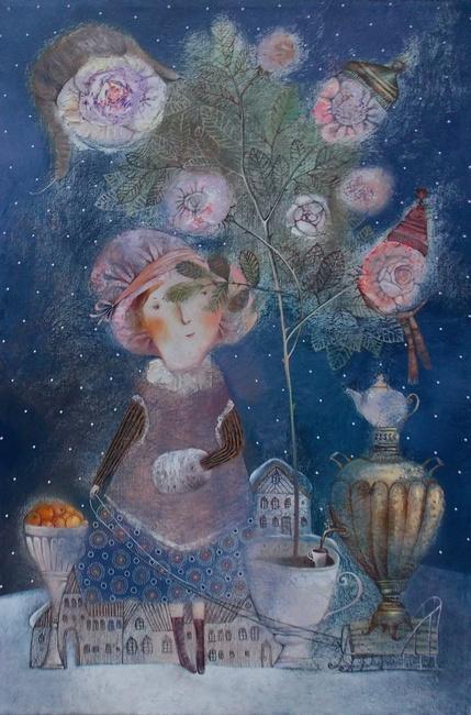 Анна Силивончик. Чайные розы. 2010 г.