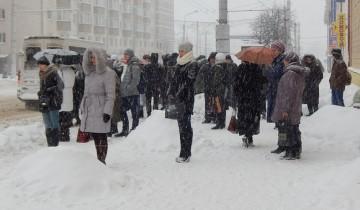 Витебск зимой 2015 года подвергся снегопадам. Фото Евгении Москвиной