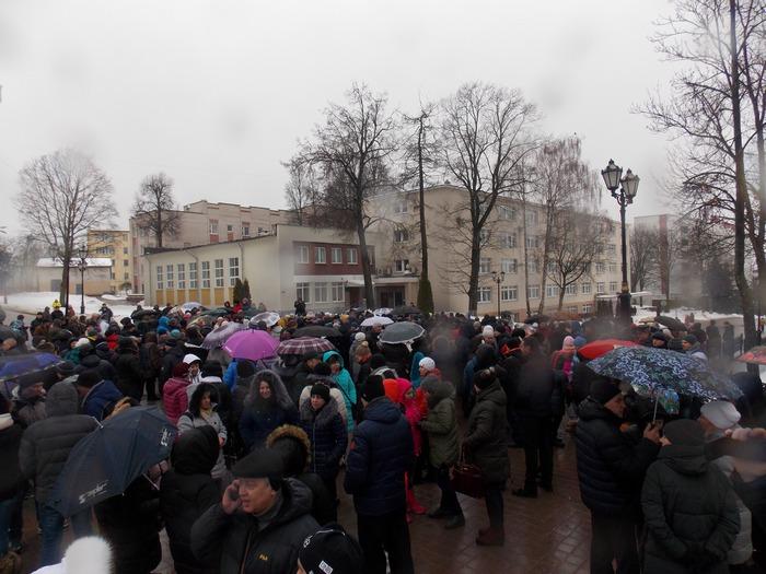 Дождливое утро 28 января на улице Гоголя