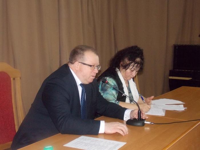 Выступает заместитель председателя Областного исполнительного комитета Олег Мацкевич