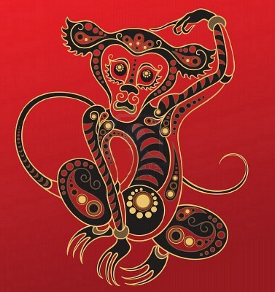 Красная Огненная Обезьяна. Источник: uduba.com