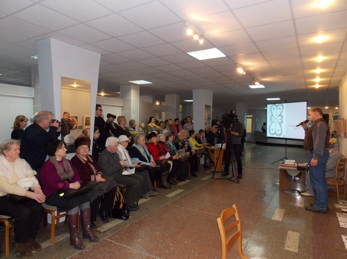 На адкрыцці выставы Уладзіміра Вітко ў Віцебскай абласной бібліятэкі