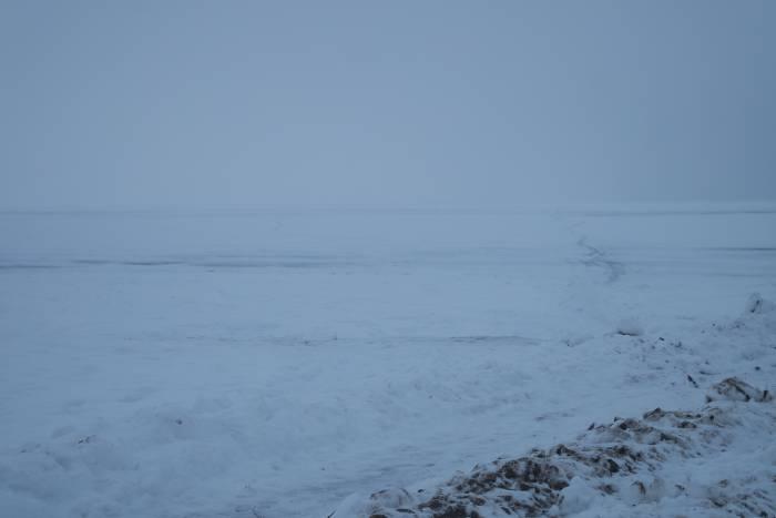 Новолукомльское озеро зимой