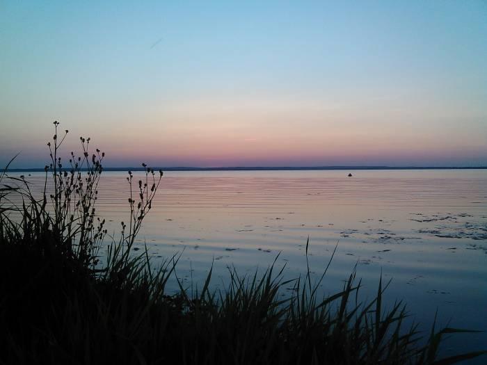 Бескрайнее озеро в Новолукомле так и манит любителей рыбной ловли