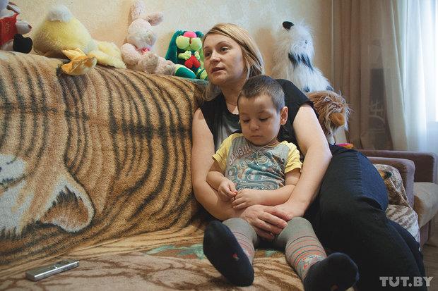 Марина Джуглий с 3-летним сыном Матвеем
