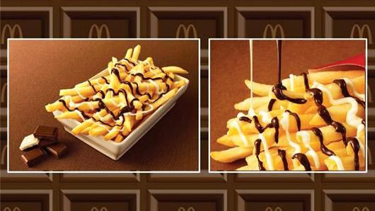 Картофель фри с шоколадом! Источник: uznayvse.ru