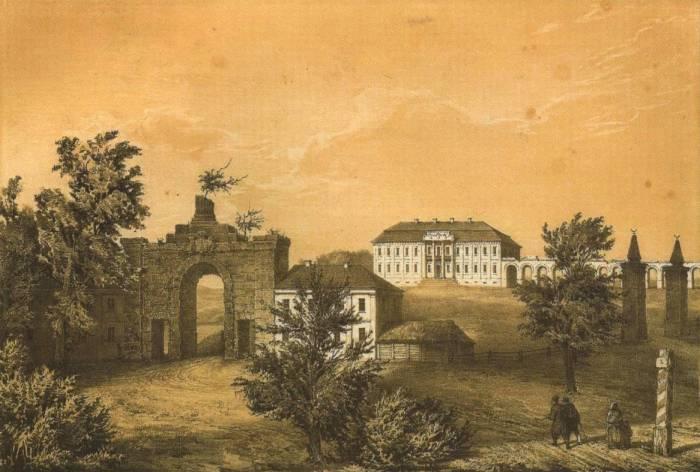 Дворец Сапегов, рисунок Наполеона Орды 1863 года. Фото radzima.org