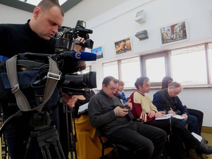 На пресс-конференции. Фото: Аля Покровская