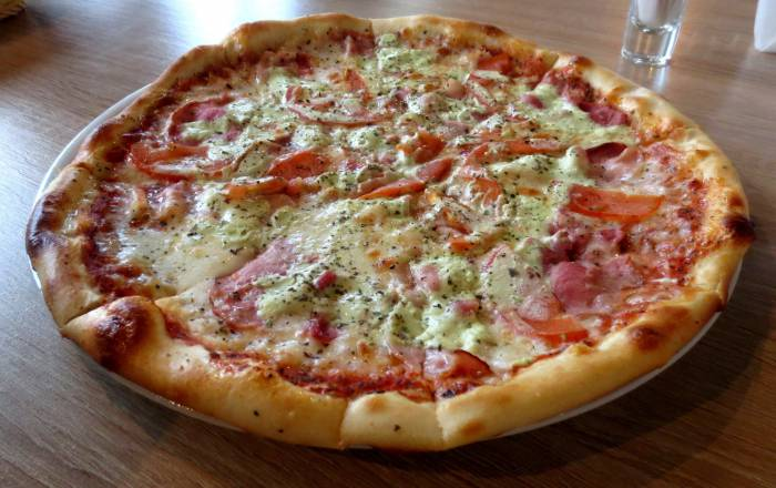 Наша пицца, которая разошлась в момент! Фото: Аля Покровская