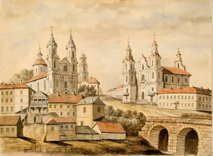 рыночная площадь, рисунок Наполеона Орды