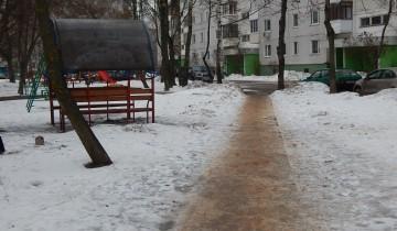 лед зима дворы