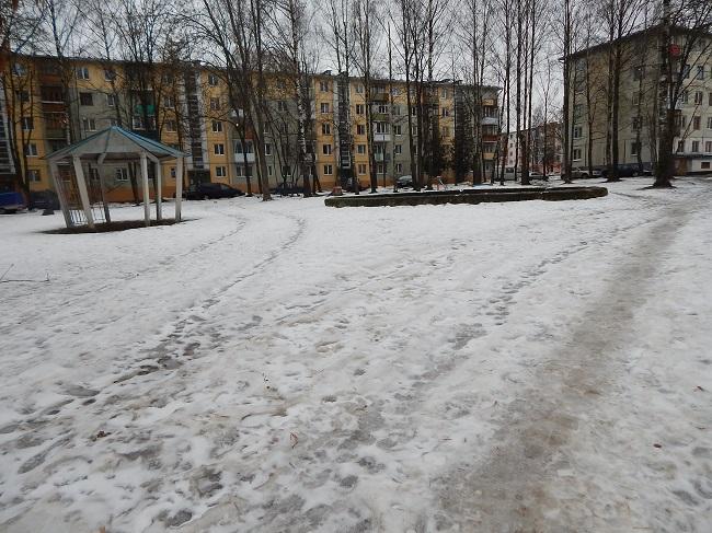 лед, зима, дворы