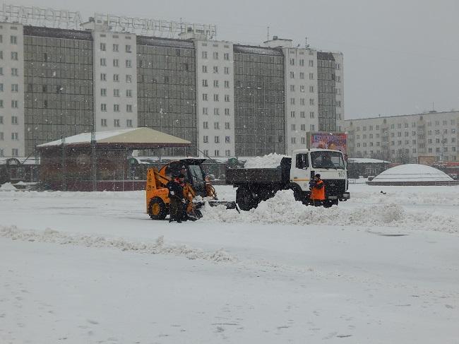 снегопад 2016